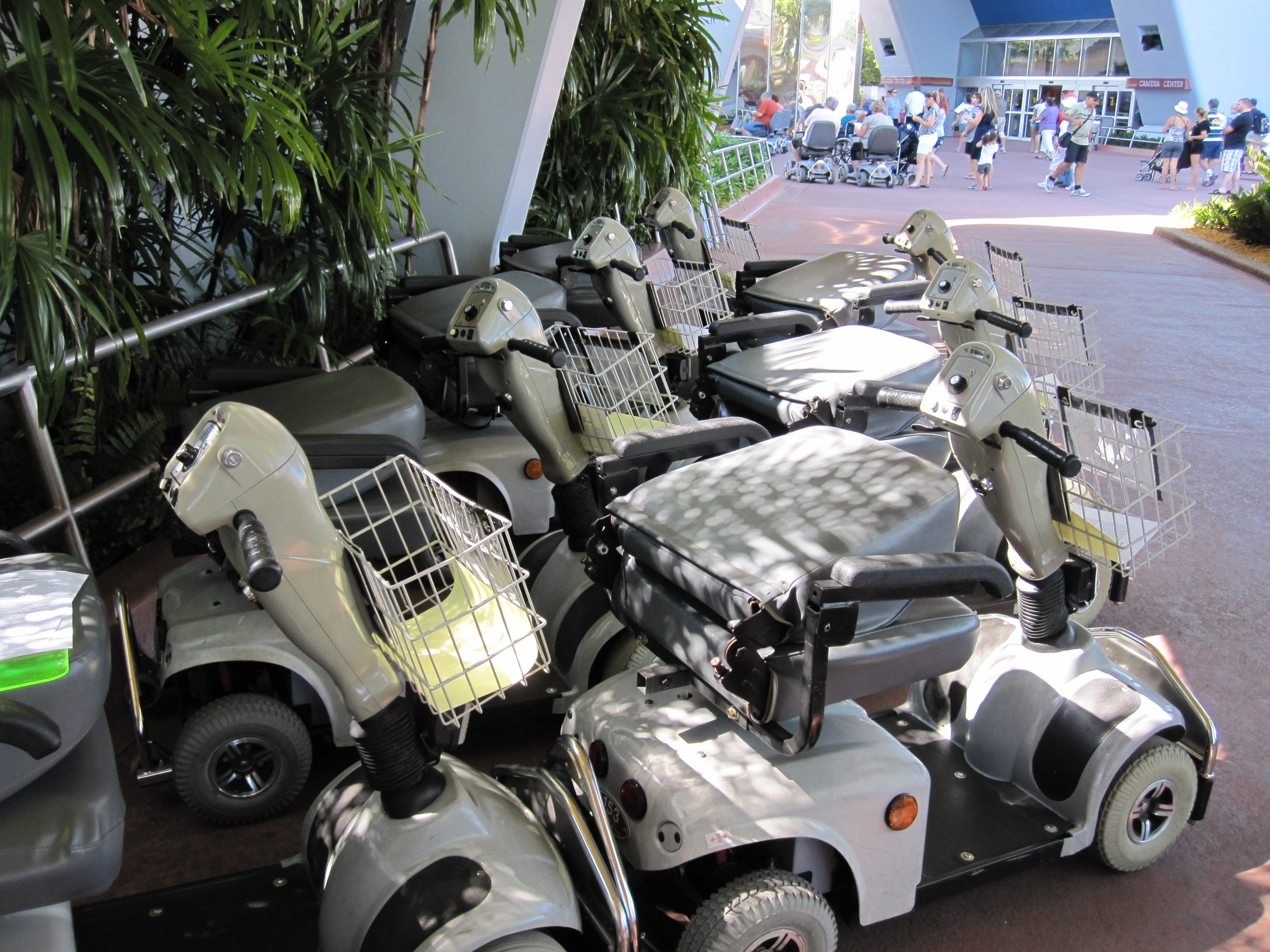 Renting an electric convenience vehicle ecv at walt for Motorized scooter disney world
